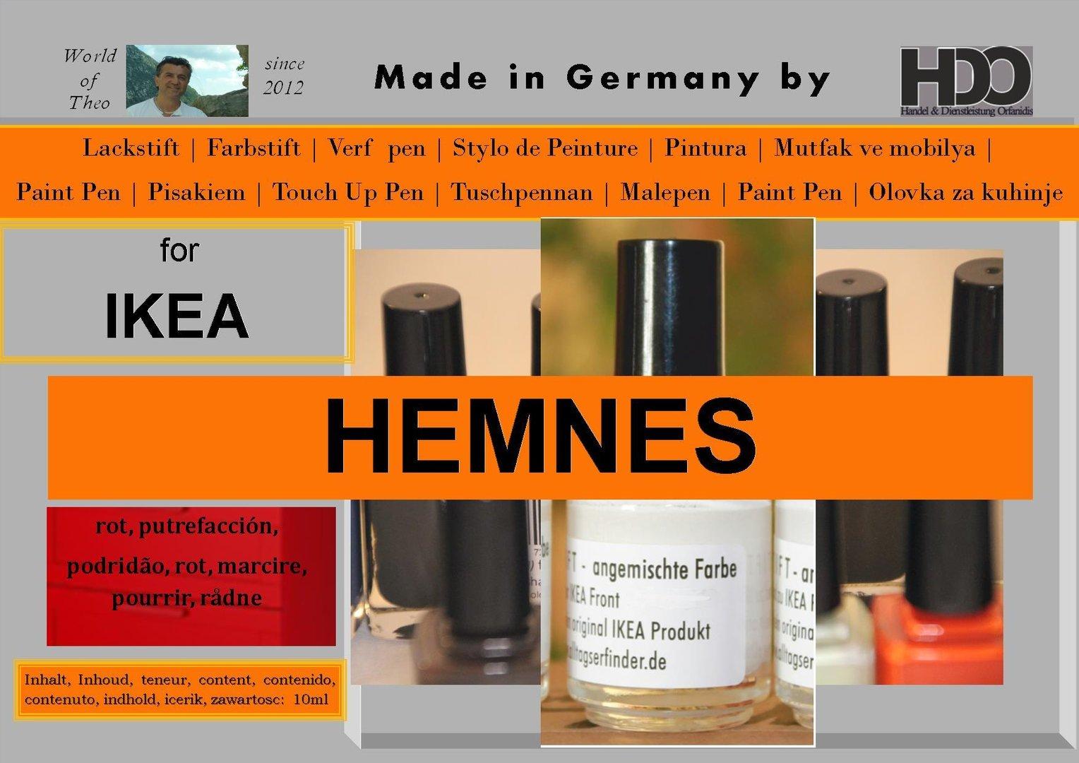 lackstift farbstift f r ikea hemnes rot q pen original. Black Bedroom Furniture Sets. Home Design Ideas