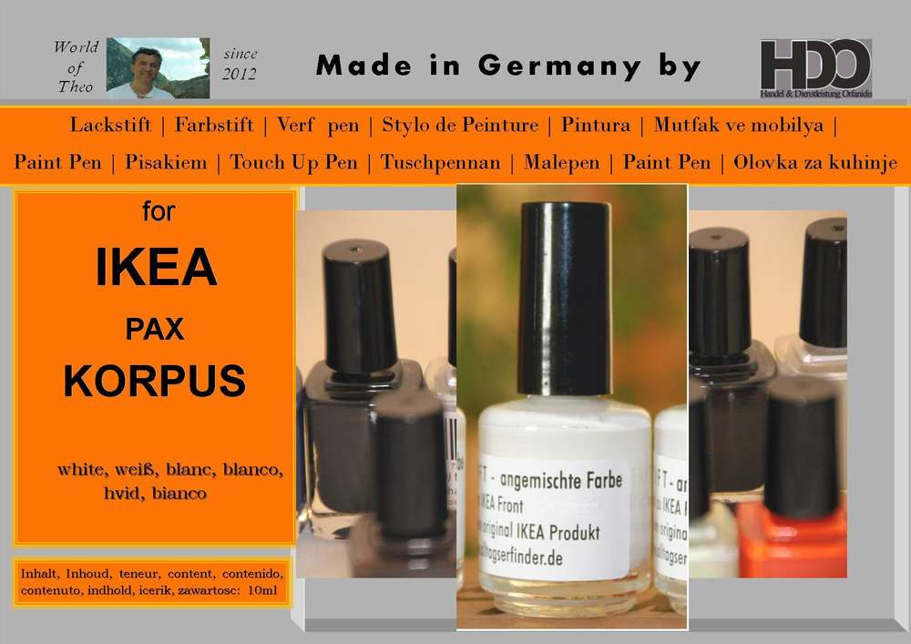 Touch Up Pen Touch Up Paint For Ikea Pax Korpus White World Of
