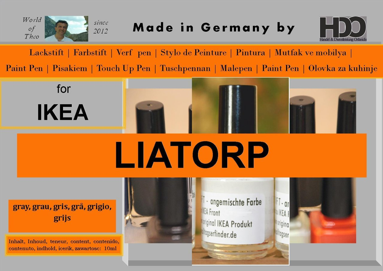 Touch Up Pen, Touch Up Paint For IKEA LIATORP Gray