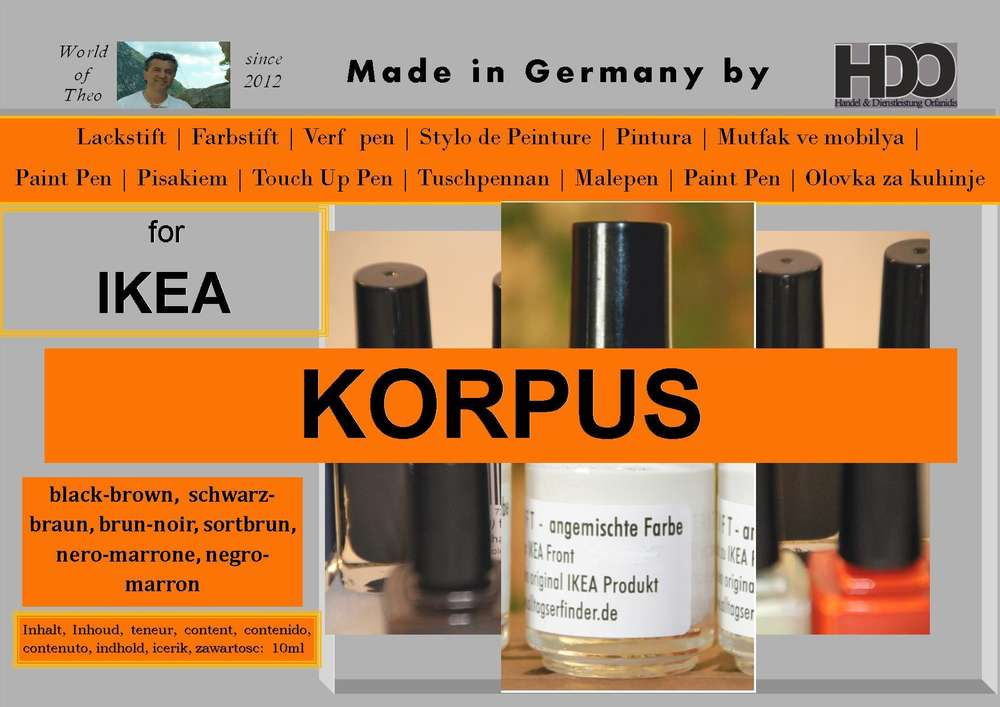 Touch Up Pen Touch Up Paint For Ikea Pax Korpus Black Brown World