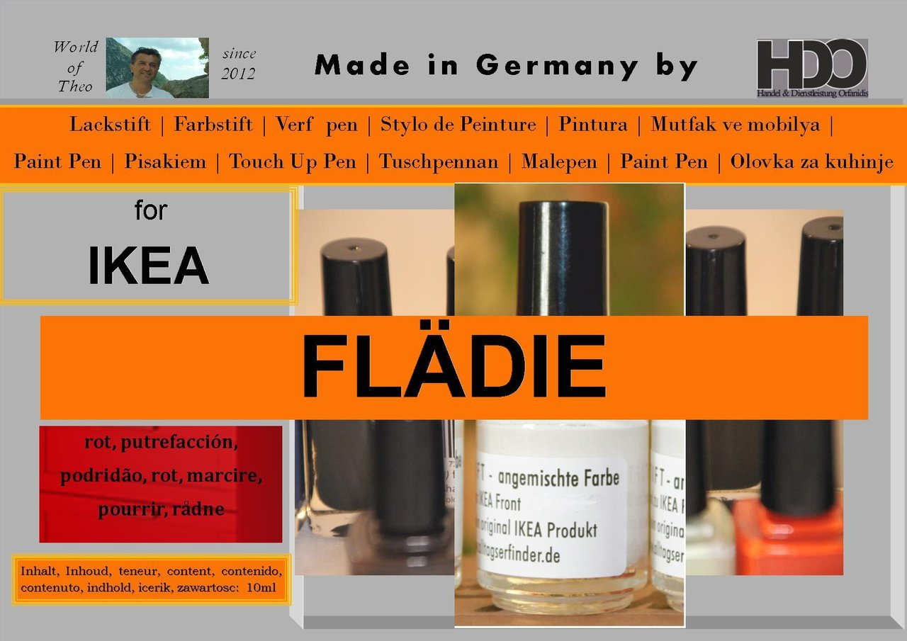 touch-up paint for IKEA FLÄDIE (FLADIE) red