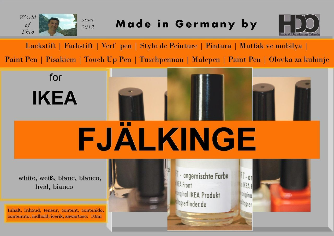 touch-up paint for IKEA FJÄLKINGE (FJALKINGE) white