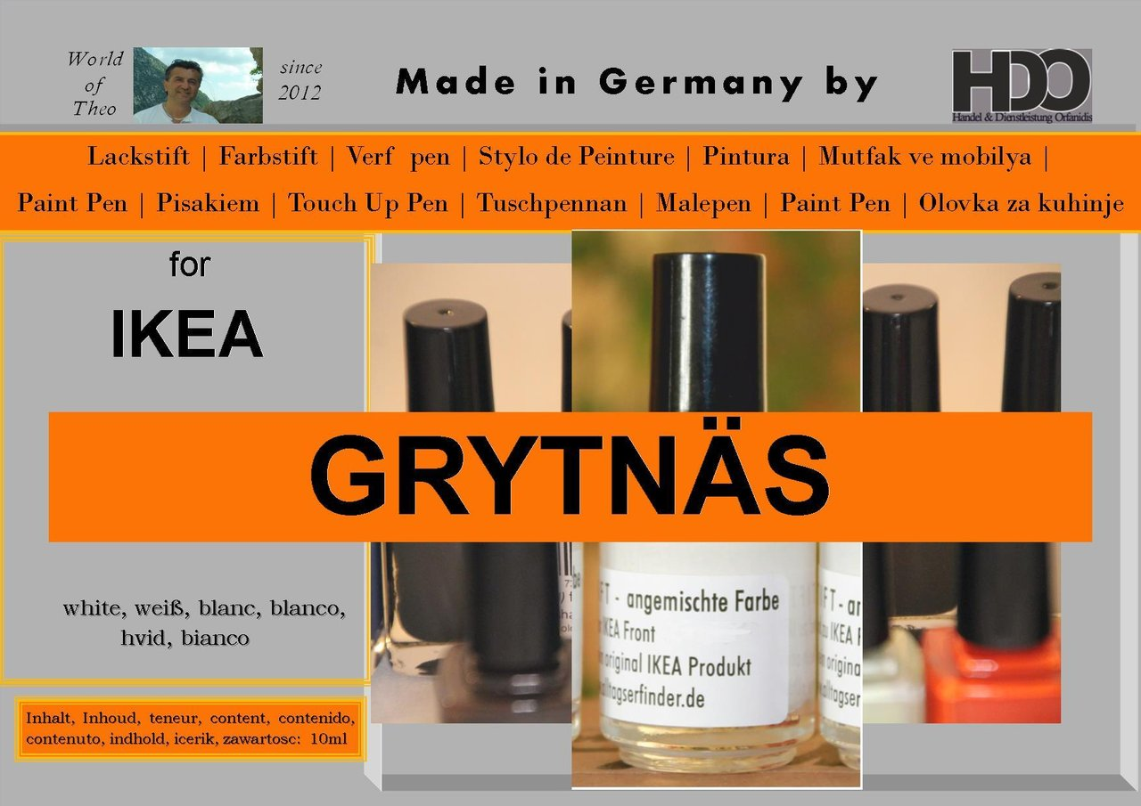 touch-up paint for IKEA GRYTNÄS (GRYTNAS) white
