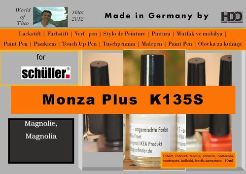 touch-up pen for Schueller Monza Plus K135S Magnolia